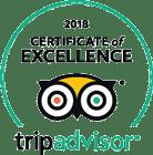 2018 TripAdvisor Certificate of Excellence Logo